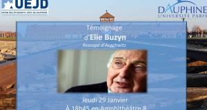 Témoignage d'Elie Buzyn, rescapé d'Auschwitz à l'Université Paris Dauphine le 29 janvier 2015
