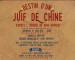 DESTIN D'UN JUIF DE CHINE