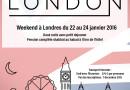 Londres – 22 au 24 Janvier 2016